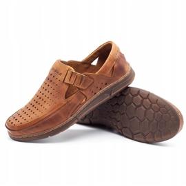 Polbut Men's summer openwork shoes J73L camel brown 2