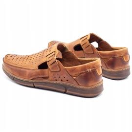 Polbut Men's summer openwork shoes J73L camel brown 4