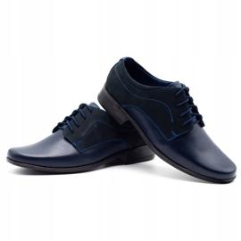 Lukas Children's formal communion shoes J1 navy blue with nubuck 6
