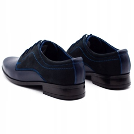 Lukas Children's formal communion shoes J1 navy blue with nubuck 7