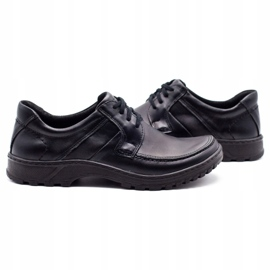 KOMODO Leather men's shoes 853 black 5
