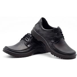 KOMODO Leather men's shoes 853 black 6