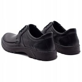 KOMODO Leather men's shoes 853 black 7