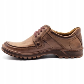 KOMODO Leather men's shoes 853 brown 1