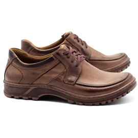 KOMODO Leather men's shoes 853 brown 2