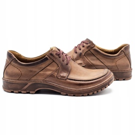 KOMODO Leather men's shoes 853 brown 5