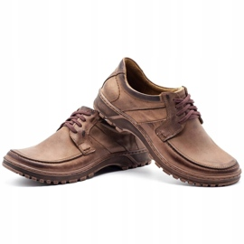 KOMODO Leather men's shoes 853 brown 6