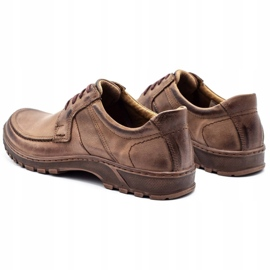 KOMODO Leather men's shoes 853 brown 7