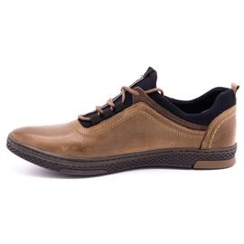 Polbut Men's casual leather shoes K24 light brown 2