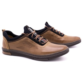 Polbut Men's casual leather shoes K24 light brown 3