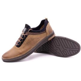 Polbut Men's casual leather shoes K24 light brown 4