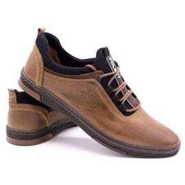 Polbut Men's casual leather shoes K24 light brown 5
