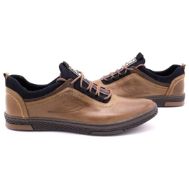 Polbut Men's casual leather shoes K24 light brown 6