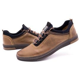Polbut Men's casual leather shoes K24 light brown 7
