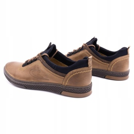 Polbut Men's casual leather shoes K24 light brown 8