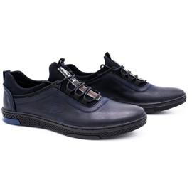 Polbut Men's casual leather shoes K24 dark navy blue 3