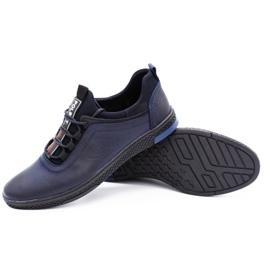 Polbut Men's casual leather shoes K24 dark navy blue 4