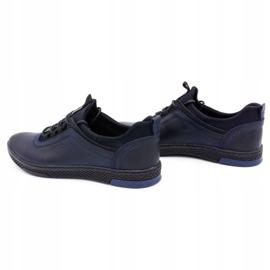 Polbut Men's casual leather shoes K24 dark navy blue 8