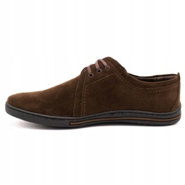 Polbut Leather shoes for men 343 brown suede 1