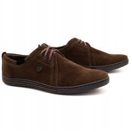 Polbut Leather shoes for men 343 brown suede 2