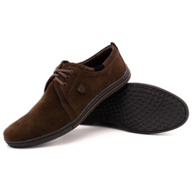 Polbut Leather shoes for men 343 brown suede 3