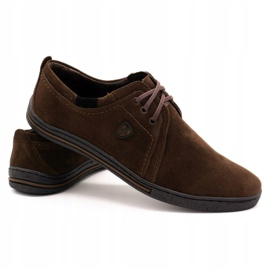 Polbut Leather shoes for men 343 brown suede 4