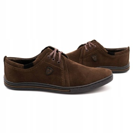 Polbut Leather shoes for men 343 brown suede 5