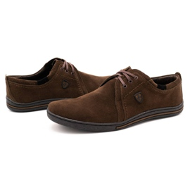 Polbut Leather shoes for men 343 brown suede 6
