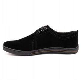 Polbut Leather shoes for men 343 black suede 1