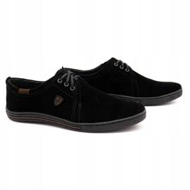 Polbut Leather shoes for men 343 black suede 2