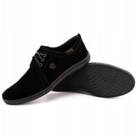 Polbut Leather shoes for men 343 black suede 3