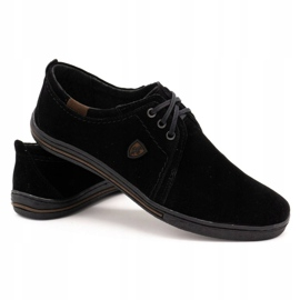 Polbut Leather shoes for men 343 black suede 4
