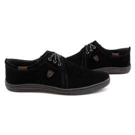 Polbut Leather shoes for men 343 black suede 5