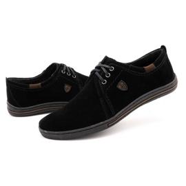 Polbut Leather shoes for men 343 black suede 6
