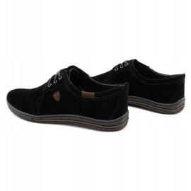 Polbut Leather shoes for men 343 black suede 7