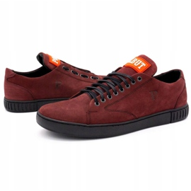 Polbut Men's leather shoes 2106 burgundy red multicolored 6