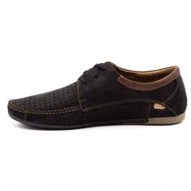 Mario Pala Men's openwork shoes 563 black 2
