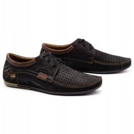 Mario Pala Men's openwork shoes 563 black 3