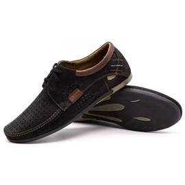 Mario Pala Men's openwork shoes 563 black 4
