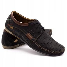 Mario Pala Men's openwork shoes 563 black 5