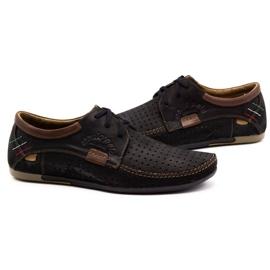 Mario Pala Men's openwork shoes 563 black 6