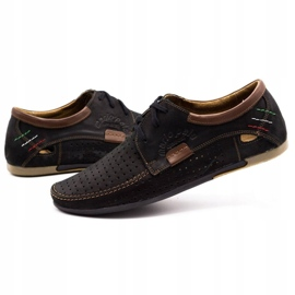 Mario Pala Men's openwork shoes 563 black 7
