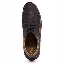 Mario Pala Men's openwork shoes 563 black 9
