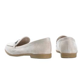 Juliette beige eco-suede loafers 1
