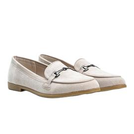 Juliette beige eco-suede loafers 2