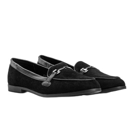 Black loafers in eco suede from Juliette 2