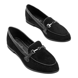 Black loafers in eco suede from Juliette 1