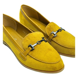 Mustard loafers made of Juliette eco-suede yellow 3