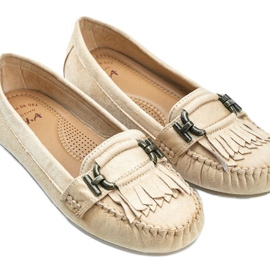 Beige eco-suede loafers from Maia 2