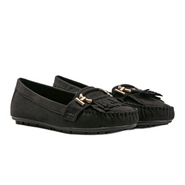 Black eco-suede loafers from Maia 2